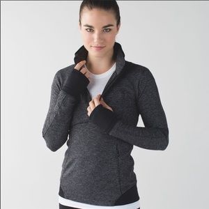 lululemon athletica Tops - Lululemon runderful 1/2 Zip Black Sweatshirt